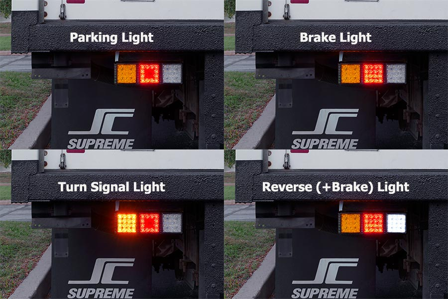 LED rear combination lamps - functions