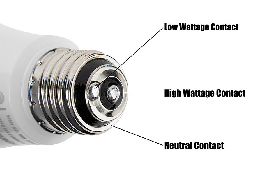 3-way LED bulbs - contacts