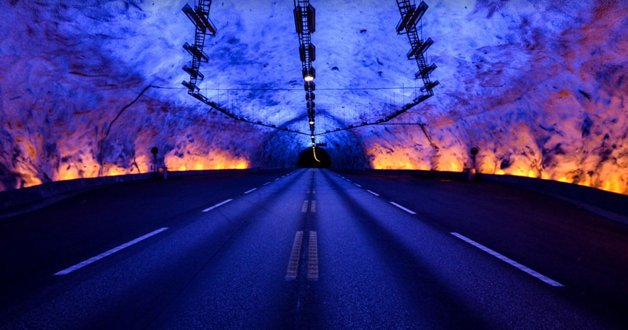 'Surreal' lighting to make 'world's longest tunnel' safe